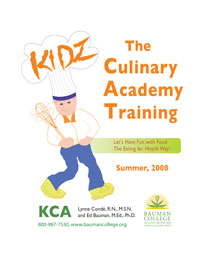 KIDZ Culinary Academy Training Front Cover