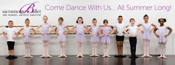 image:The School of Sacramento Ballet Summer Promotions 2020 Fence Banner (96x36 inch)