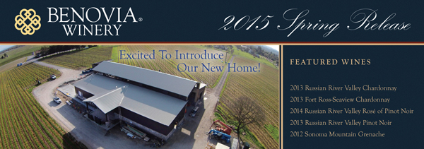 image: Benovia Winery Spring 2015 Email Banner
