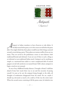 image: Love Italian Style: Family Recipes and Stories Antipasti Chapter