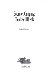 image: Gourmet Camping: Meals For Wheels Title Page