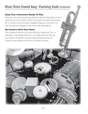 image: Learn Today, Play Tomorrow® Music Notes Created Easy 				                                            		Practicing Guide, Page Fifty Eight