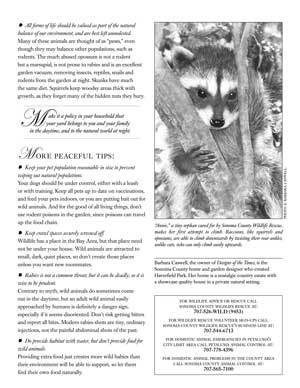 image: Make Habitat a Habit: Cute, Fuzzy and Best Left Alone Page Two