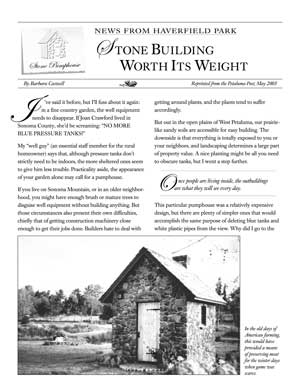 image: News From Haverfield Park: Stone Building Worth It's Weight Page One