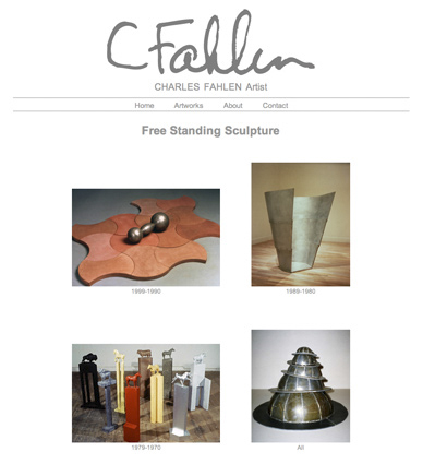 image: Charles Fahlen Web Site Free Standing Sculpture Page
