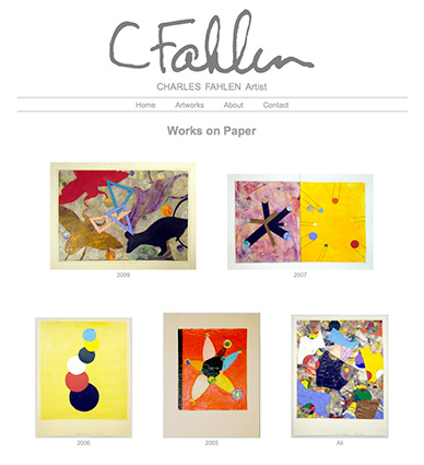 image: Charles Fahlen Web Site Works On Paper Page