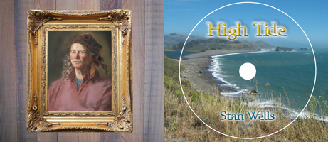"image: ""High Tide"" CD Package Inside — Artist Portrait and Jenner Beach"