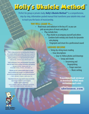 image: Holly's Ukulele Method™ Back Cover