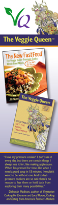 image: The Veggie Queen's Bookmark Front